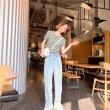 画像4: レディース 春夏 tシャツ 綿 ショート トップス 涼しい 半袖 シンプル ゆったり おしゃれ 薄地 日常用 外出 旅行 通学 通勤 人気 10代/20代/30代/40代 (4)