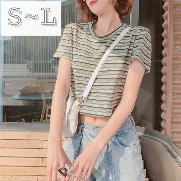 画像1: レディース 春夏 tシャツ 綿 ショート トップス 涼しい 半袖 シンプル ゆったり おしゃれ 薄地 日常用 外出 旅行 通学 通勤 人気 10代/20代/30代/40代 (1)