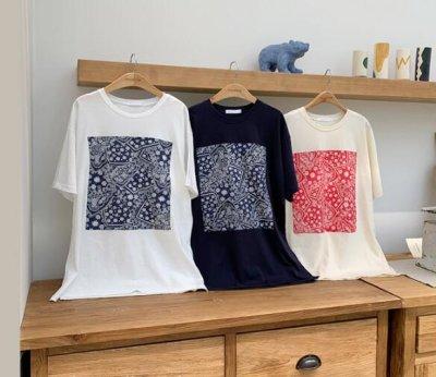 画像2: レディース春夏tシャツ 綿 ショート トップス 横柄 半袖 シンプル ゆったり 薄地 日常用 外出 旅行 通学 通勤 人気