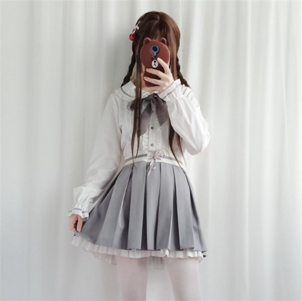 画像1: オフショルダー ロリータ ワンピース ロリータファッション lolita 清楚系 お嬢様 姫 デート服 女性 女子 レディース 大人用 (1)
